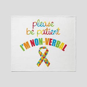 Non-Verbal Autistic Throw Blanket