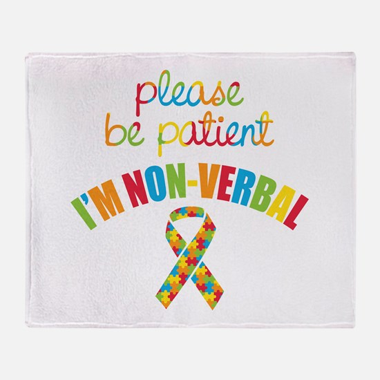 Non-Verbal Autistic Throw Blanket