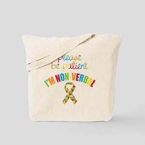 Non-Verbal Autistic Tote Bag