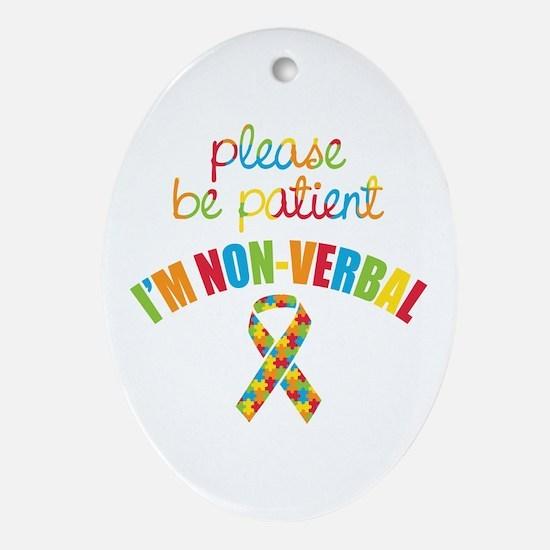 Non-Verbal Autistic Oval Ornament