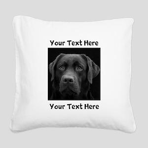 Dog Labrador Retriever Square Canvas Pillow