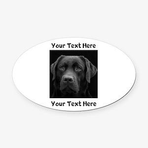 Dog Labrador Retriever Oval Car Magnet