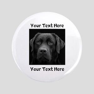 """Dog Labrador Retriever 3.5"""" Button"""