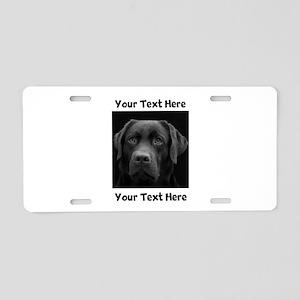 Dog Labrador Retriever Aluminum License Plate