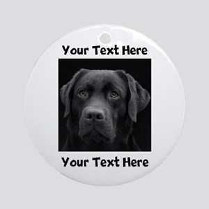 Dog Labrador Retriever Round Ornament