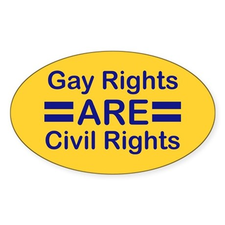 Gay Rights Oval Sticker