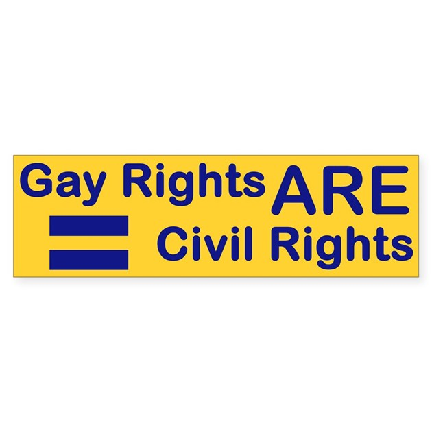 rights stickers Gay free