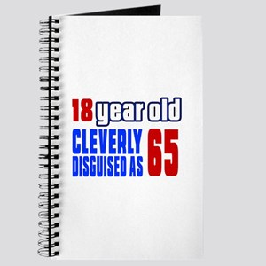 Cleverly Disguised As 65 Birthday Journal