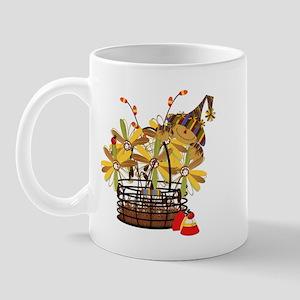 Scarecrow Fall Fowers Mug