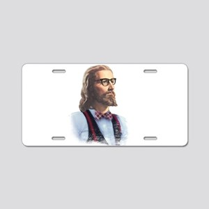 Hipster Jesus Aluminum License Plate