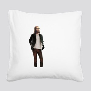 Hipster Jesus Fashion Square Canvas Pillow