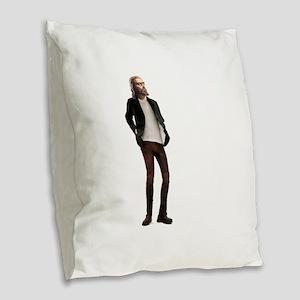 Hipster Jesus Fashion Burlap Throw Pillow