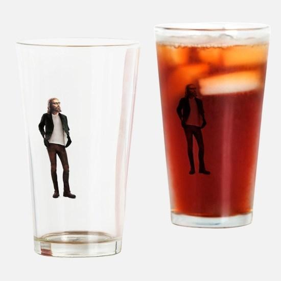 Hipster Jesus Fashion Drinking Glass