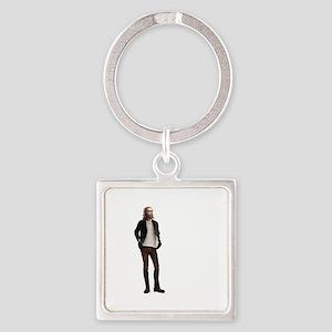 Hipster Jesus Fashion Square Keychain