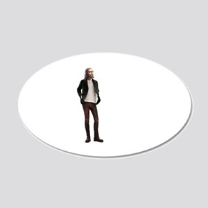 Hipster Jesus Fashion 20x12 Oval Wall Decal