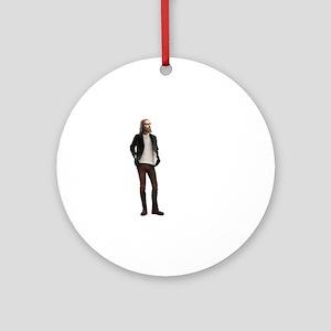Hipster Jesus Fashion Round Ornament