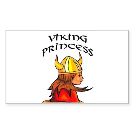 VIKING PRINCESS #2 Rectangle Sticker