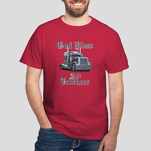 God Bless All Truckers Dark T-Shirt