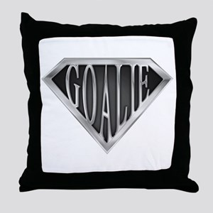 SuperGoalie(metal) Throw Pillow