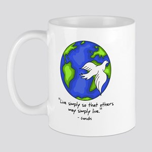 World Gandhi - Live Simply Mug