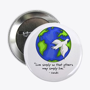 World Gandhi - Live Simply Button