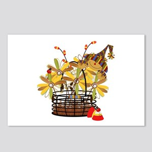 Scarecrow Fall Fowers Postcards (Package of 8)
