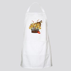 Scarecrow Fall Fowers BBQ Apron
