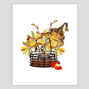 Scarecrow Fall Fowers Small Poster