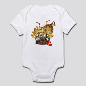 Scarecrow Fall Fowers Infant Bodysuit