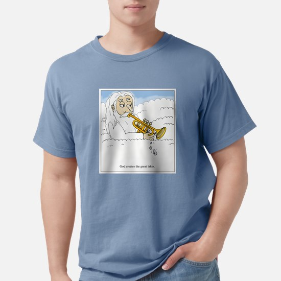 God creates the great lakes; T-Shirt