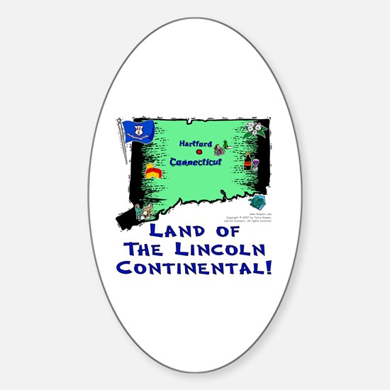 CT-Lincoln! Oval Decal