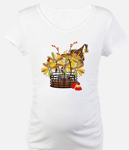 Scarecrow Fall Fowers Shirt