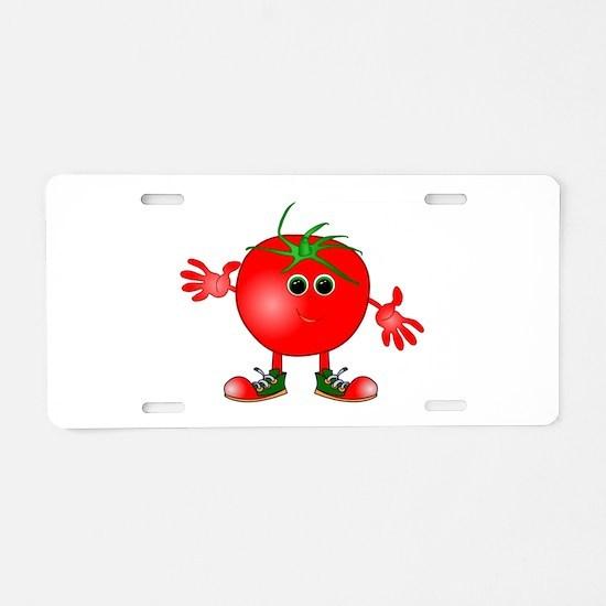 happy tomato Aluminum License Plate