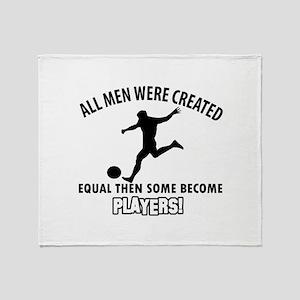 Soccer Designs Throw Blanket
