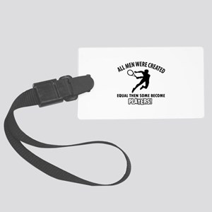 Tennis Players Designs Large Luggage Tag