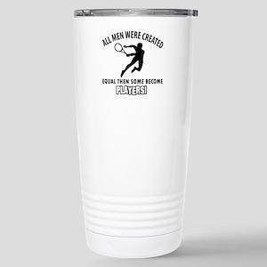 Tennis Players Designs Stainless Steel Travel Mug