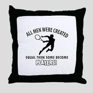 Tennis Players Designs Throw Pillow