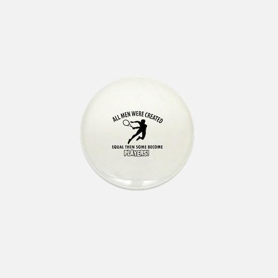 Tennis Players Designs Mini Button