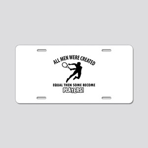Tennis Players Designs Aluminum License Plate