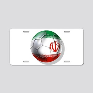Iran Soccer Ball Aluminum License Plate