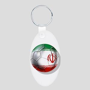 Iran Soccer Ball Aluminum Oval Keychain Keychains