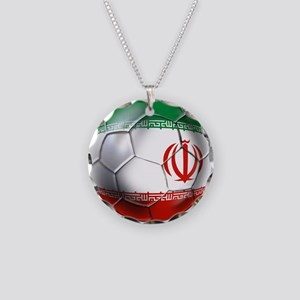Iran Soccer Ball Necklace Circle Charm