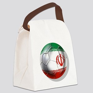 Iran Soccer Ball Canvas Lunch Bag