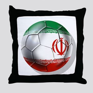 Iran Soccer Ball Throw Pillow