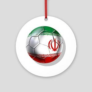 Iran Soccer Ball Round Ornament