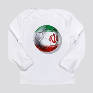 Iran Soccer Ball Long Sleeve Infant T-Shirt