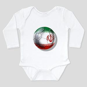 Iran Soccer Ball Long Sleeve Infant Bodysuit