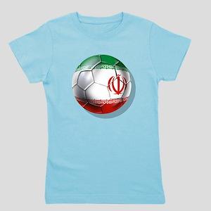 Iran Soccer Ball Girl's Tee