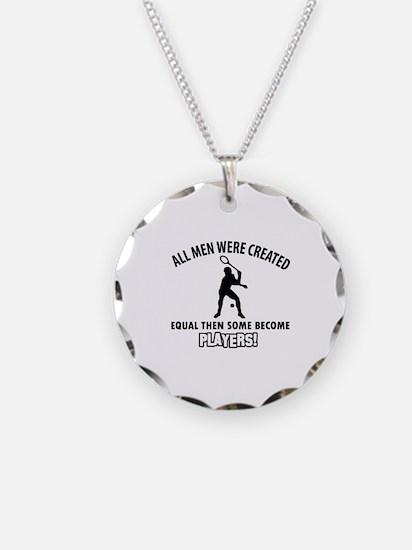 Squash Players Designs Necklace
