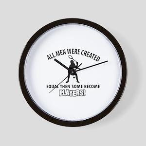 Squash Players Designs Wall Clock